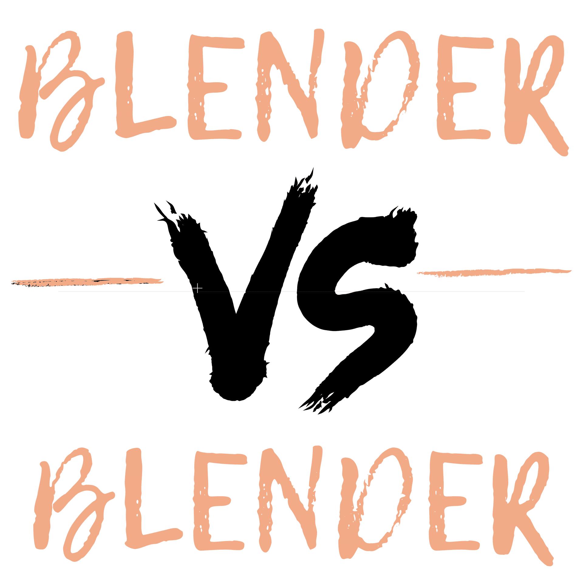 Blender vs. Blender vector in pink and black coloring