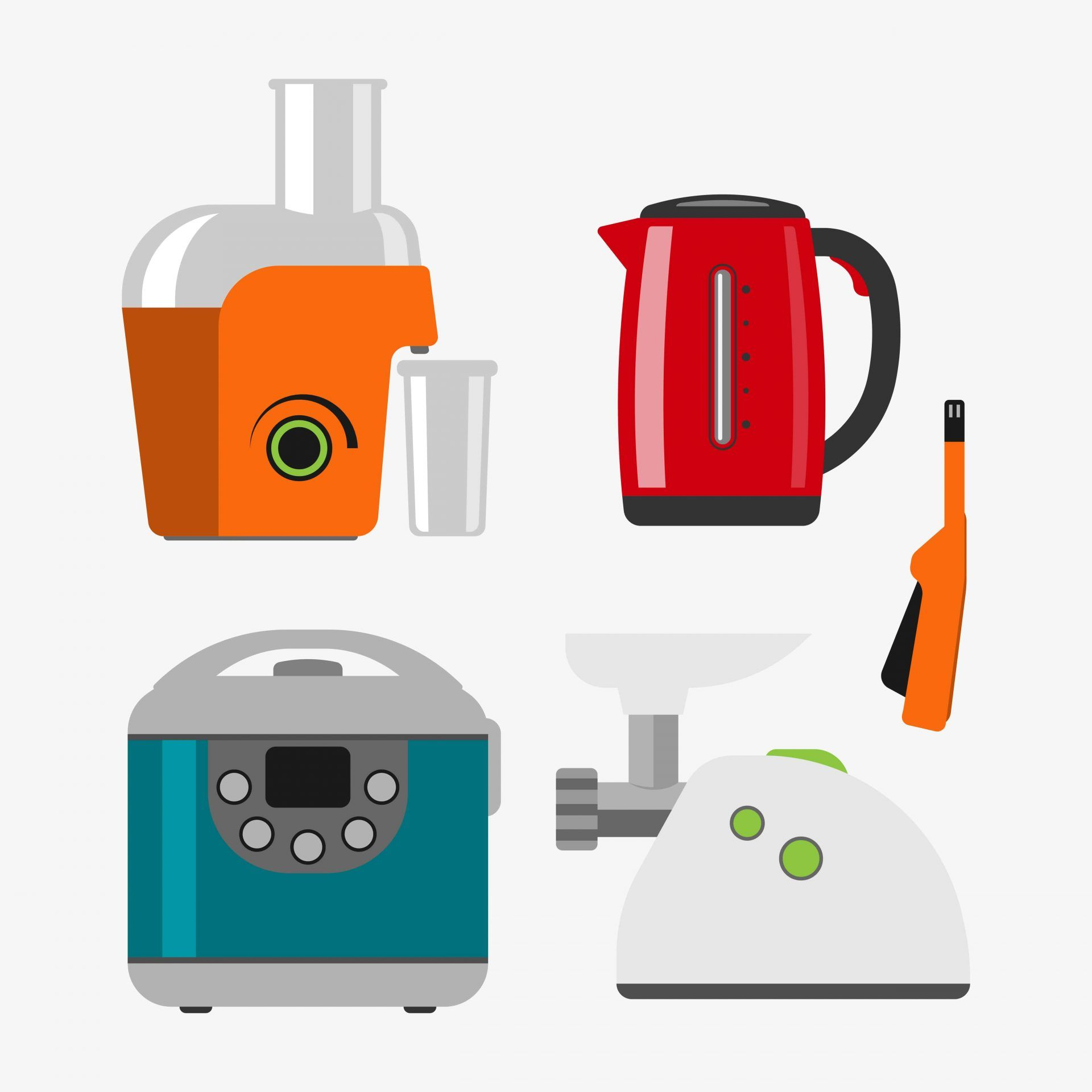 Various Types of Juicers Illustration