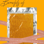 """Image of a package of turmeric powder with words """"Surprising Benefits of Turmeric"""""""