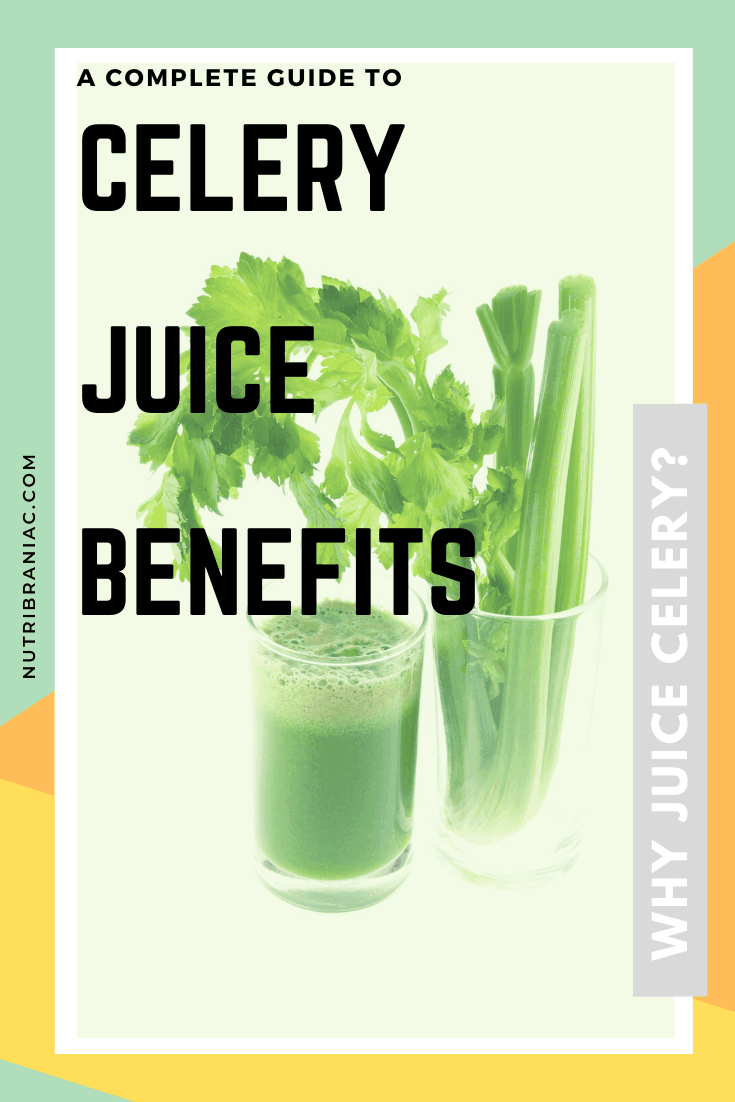 Did you know that celery has more health benefits than the most exotic vegetables? Check out our complete guide to all things celery. We look at the science behind celery juice benefits and the celery juice craze. #celeryjuicecleanse #celeryjuicing #juicingforhealth #juicingbenefits #juicingcelerybenefits