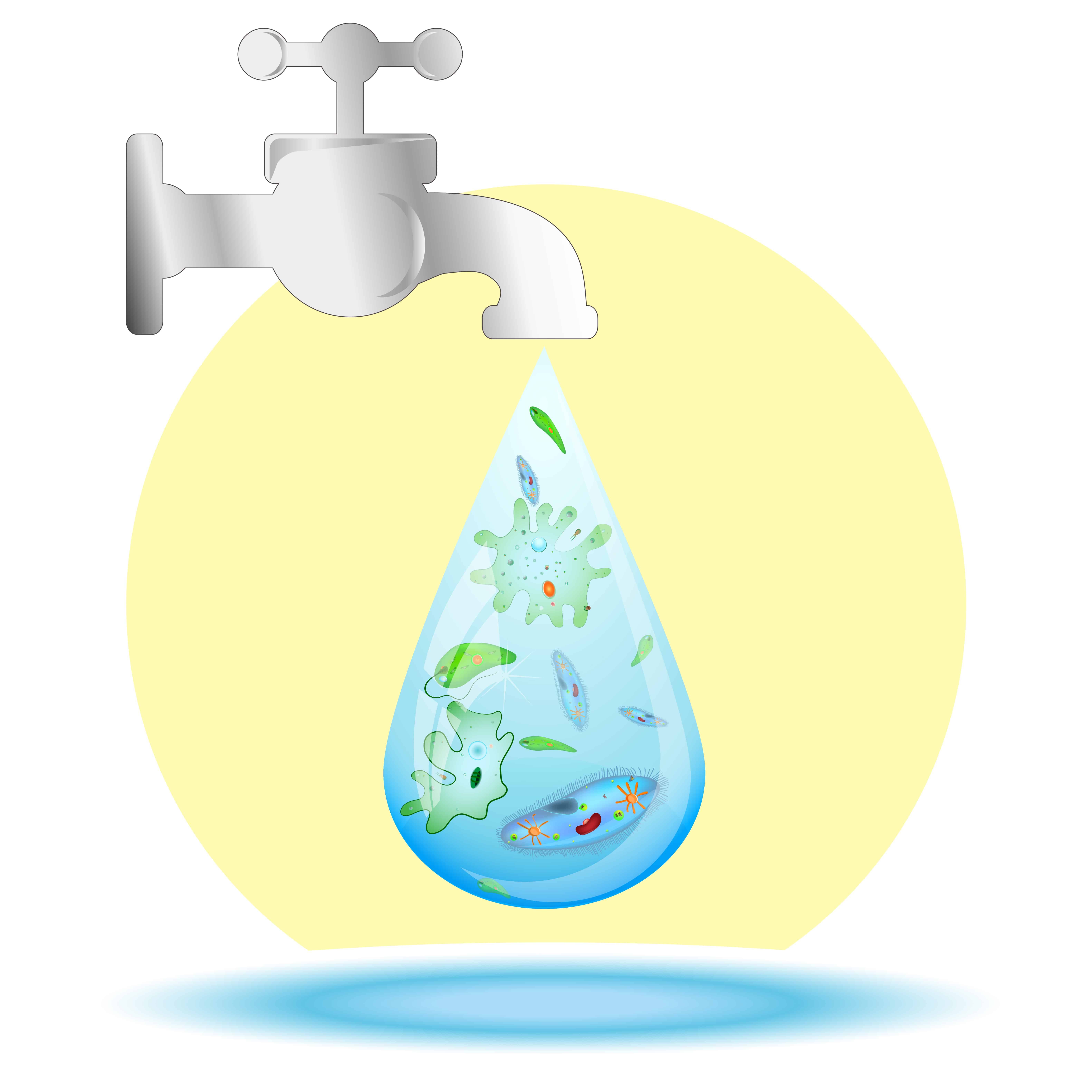 Illustration of polluted tap water